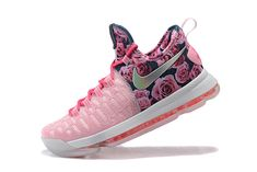 Sale New KD IX 9 Flyknit Aunt PEARL Vivid Pink Rose Silver Hyper Pink Kevin  Durant