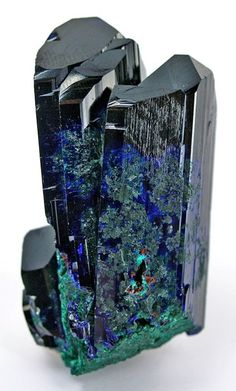 Malachite on Azurite  some day soone I will have enough money that I will drive to the Tucson gem and mineral show and buy anything I like. jk