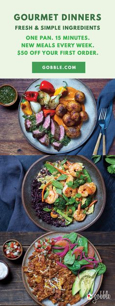 Gobble | Fresh & Simple Ingredients | 15 Minute Dinners Designed To Create Dinner | Dinner For Two | Quick and Easy Recipes | New Recipes To Try | Cook At Home | Fresh Ingredients | What To Have For Dinner | Dinner Recipes | Easy Dinner Recipes | Gourmet Meals | $50 OFF