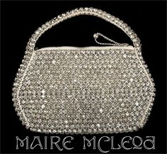 Dainty 20s-30s Rhinestone Evening Purse Handbag