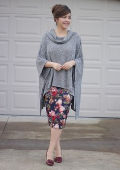 A few more left of our Camille Poncho. ❤️ Nice lightweight fabric for fall days that start off chilly and warm up.