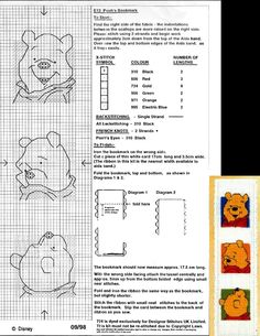 This is a pattern of Pooh's bookmark of Designer Stitches (09-1998) that is no longer for sale.