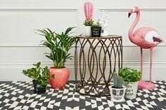 Pink Flamingo Home Decoration Estilo Tropical, Tropical Vibes, Deco Miami, Deco Rose, Home And Deco, Pink Flamingos, Trees To Plant, Decoration, Planting Flowers