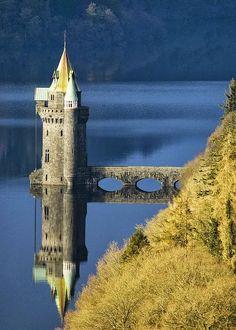 Lake Efrnwy reflection ~ Wales