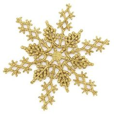 Large Gold Glitter Snowflake Ornaments   Shop Hobby Lobby
