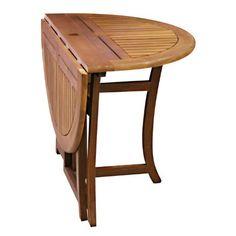 Amazon.com : Eucalyptus 43 Inch Round Folding Deck Table : Patio Dining Tables : Patio, Lawn & Garden