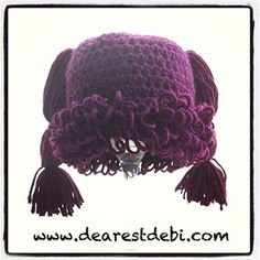 I've seen this crochet hat pattern all over. Try it for free! Cabbage Patch Kid Newborn Beanie - Media - Crochet Me