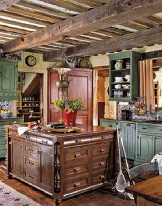 Olha este móvel central...esta cozinha é meu número.