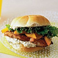 Georgia Peach Chicken Sandwiches - Particularly interested in the pecan breading on the chicken