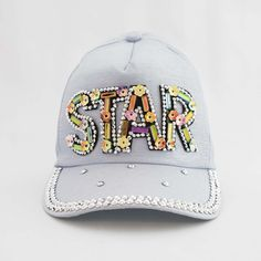The I'm a Star Princess Trucker Cap, a gorgeous limited edition collection of Princess Trucker Caps by Sienna Likes to Party - Designer Childrens Accessories. Stylish Hats, Hat Shop, Girls Accessories, Rainbow Colors, Crystal Beads, Designer Kids, Cap, Stars, Princess