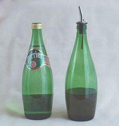 Turn your Perrier bottles into an oil cruet