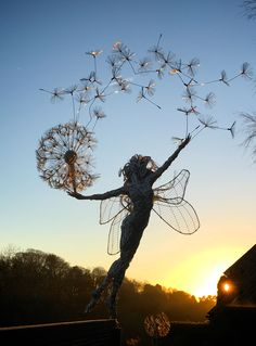 Happy Monday night fairy fix everyone. Hope you have a great time bringing in 2020 wherever you are. It's the end of decade, and what a… Elfen Fantasy, Fantasy Art, Wind Sculptures, Sculpture Art, Robin Wight, Fairytale Art, Fairy Art, Surreal Art, Metal Art