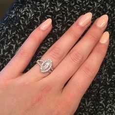 Marquise Engagement Ring w halo                                                                                                                                                                                 More