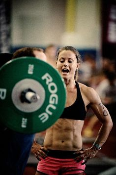 CrossFit is about cheering on  Crossfit is about helping others tweak to good form  Crossfit is about having other people there to help you out