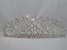 Bella's Wedding Crown Bridal Crown Tiara Austrian by Glitteredtoo.  Check out these gorgeous crowns on www.glitteredtoo.etsy.com