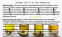 ULEIURILE CARE TE FAC MAI FRUMOASĂ (1) Argan Oil, Cosmetology, Nail Care, Hair And Nails, Essential Oils, Hair Beauty, Mirror, Health, Fitness