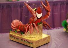 Krewe de Kraw- glittered crawfish shoe box parade float