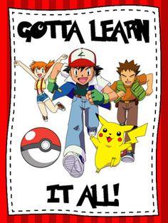 Gotta Learn it all Pokemon themed classroom poster.