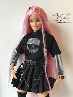 My creations' photographs of Modern Fashion dolls including Fashion Royalty Tonner Dolls, Mattel Collectibles and Barbie Fashionistas. Barbie Clothes Patterns, Doll Dress Patterns, Doll Clothes, Barbie Style, Grunge Outfits, Girl Outfits, Fashion Outfits, Barbie Outfits, Barbies Pics