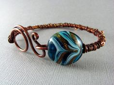 Wire Wrap Bracelet Copper Bracelet Handmade Art Jewelry Wire Wrapped Jewelry Copper Bangle