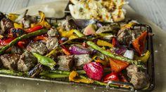 Miks av biff og grønnsaker til grill