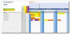 Personalplaner ist eine kostenlose Excel-Vorlage zur Mitarbeiterplanung. Erfasse Urlaubstage, Arbeitstage, Krankheitstage für bis zu 25 Mitarbeiter...