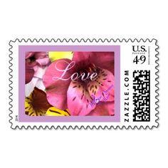 Love and Flowers U.S. Medium Postage Stamp   http://www.zazzle.com/love_and_flowers_u_s_medium_postage_stamp-172061322250552376?rf=238588924226571373