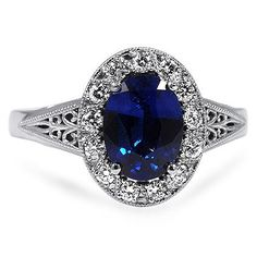 Ornate Filigree Halo Ring from Brilliant Earth  Champagne Sapphire, thin, rose gold vintage band. My dream!