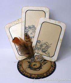 Steampunk Playing Cards - Jane Johnson - Stempelglede :: Design Team Blog