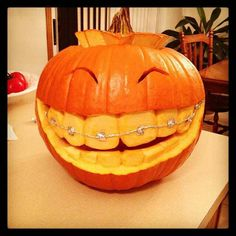 Damn...that's one happy pumpkin.