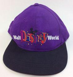 Walt Disney World Ball Cap WDW Snap-back Goofys Hat Co 84167 embroidered logo Mickey #GoofysHatCo #DisneyBaseballHatCap #Disney #MickeyMouseballcap
