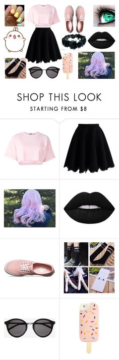 (F)Pastel Outfit #1 by wired-illusions on Polyvore featuring Steve J & Yoni P, Chicwish, Vans, Tory Burch, Yves Saint Laurent, Lime Crime, cute, pastel and kawaii