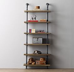 I'm making this!!!  Industrial Pipe Shelving I want this in the garage apt. kitchen, open shelving!
