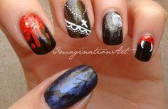 "[ * ImaginationNAILart * ] Nail Art - ""Vampire"""