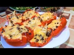 Stuffed Peppers, Vegetables, Food, Youtube, Meal, Stuffed Pepper, Eten, Vegetable Recipes, Meals