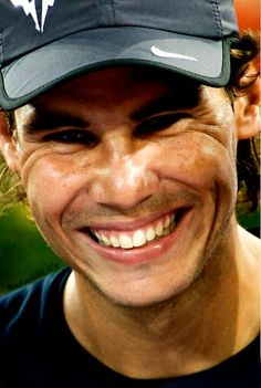Rafael Nadal~A Smile From  His Inner Being.