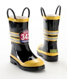 Chasing Fireflies Child fire chief rainboots ($29)