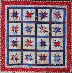"Freddy's Quilt - 2014.  Based upon Bonnie Hunter's free pattern ""Maverick Stars"" at http://quiltville.blogspot.com/2005/06/maverick-stars.html."