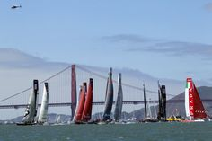 Americas Cup: Rounding the marker in San Francisco Bay
