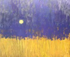 Moon over Ocher Fields 30x36