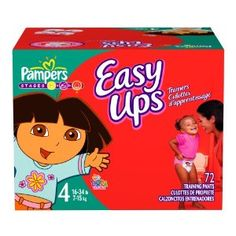 Pampers Easy Ups Trainers for Girls, Size 2T-3T, 72 Count -   - http://babyentry.com/baby/diapering/disposable-diapers/pampers-easy-ups-trainers-for-girls-size-2t3t-72-count-com/