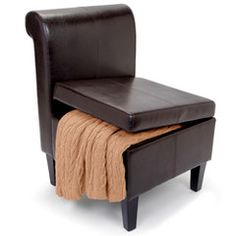 The Clutter Storing Accent Chair - Hammacher Schlemmer
