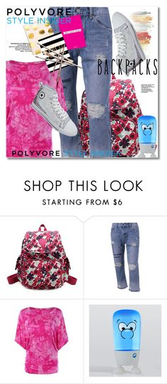 """""""Rule School: Cool Backpacks"""" by svijetlana ❤ liked on Polyvore featuring backpacks, contestentry and PVStyleInsiderContest"""