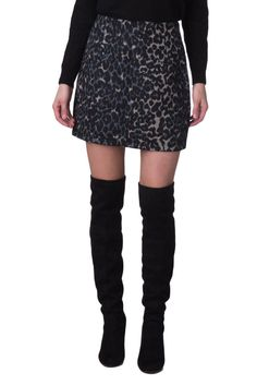 3efd4da58 JOVONNA Mini Trapeze Skirt Size UK 8 / S Fur Imitation Animal Print Zipped  #fashion