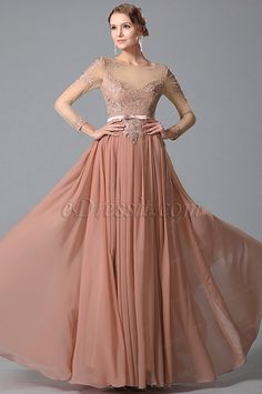 Glamorous Long Sleeves Lace Top Evening Gown Formal Dress (02150346) #edressit #fashion #dresses #eveningdresses #lace #longsleevesgowns #formalwears #motherofthebridedresses