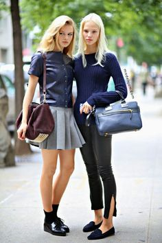 Sasha Luss and Anna Ewers, New York, September 2013
