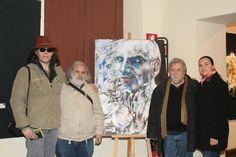 Gianni testa con L amico Antonio Senes con chiara testa ( coordinatrice ) e L amico artista Daniele Bongiovanni !