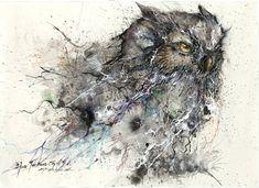 Ink Nightowl by huatunan.deviantart.com on @deviantART