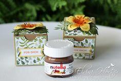 Mini Nutella Glas in hübscher Geschenkverpackung von Stampin Up Österreich