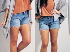 DIY Distressed, Cut Off Denim Shorts
